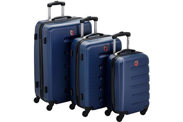 Juego de maletas de viaje geographical norway