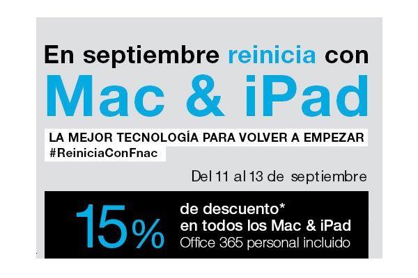 Promoción 15% Descuento Mac & iPad