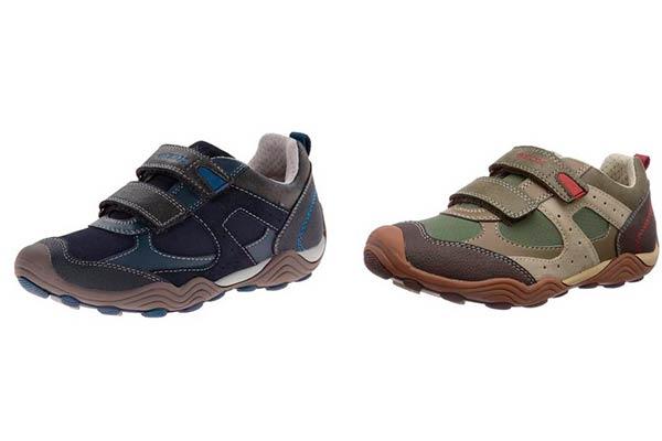 Zapatillas Geox JR Arno en Verde y Azul