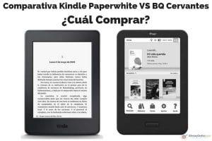comparativa ereader kindle paperwhite vs bq cervantes