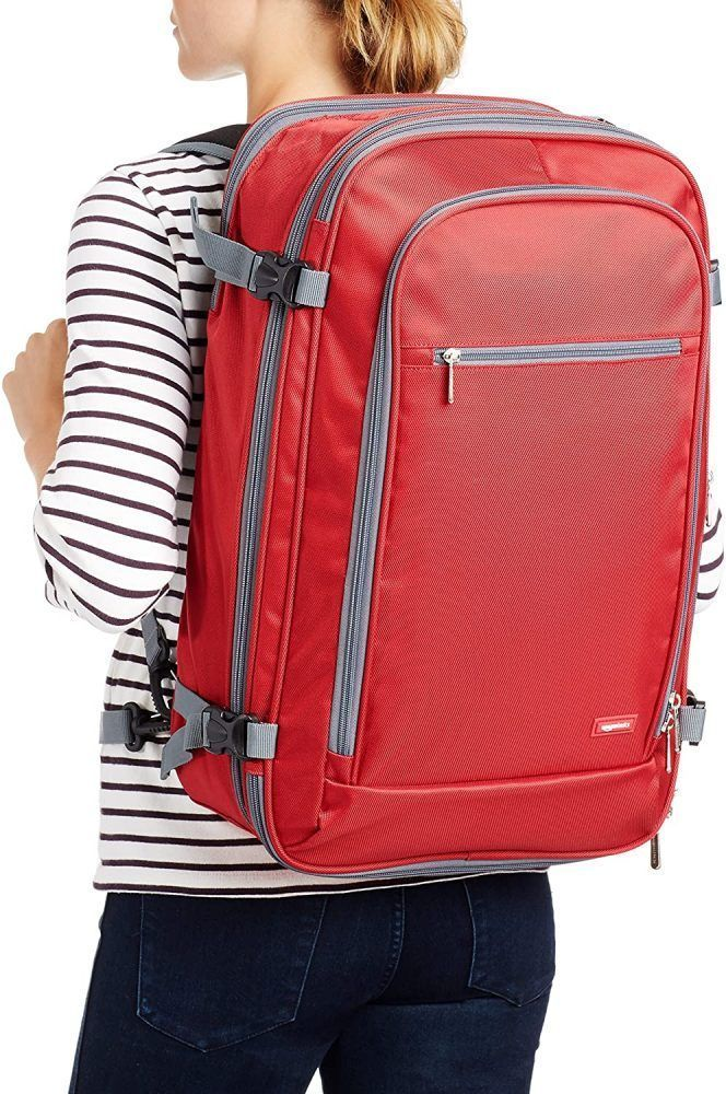 mochila de viaje amazonbasics