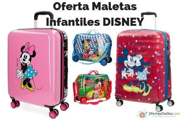 oferta maletas infantiles disney