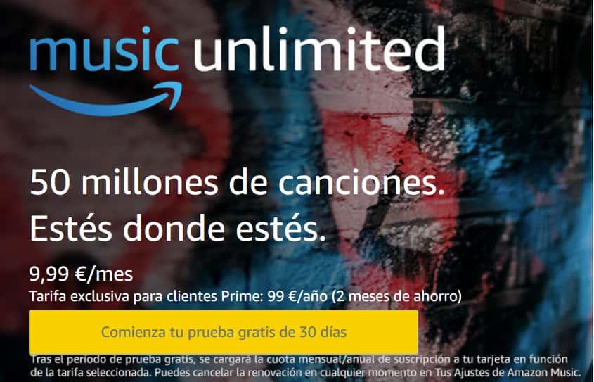 Musica Gratis Amazon COMENZAR PRUEBA
